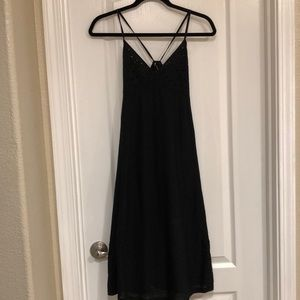 Zara Contrasting Dress Black Small (NWT)